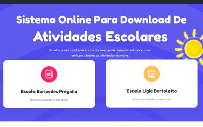Sistema online para download de atividades escolares