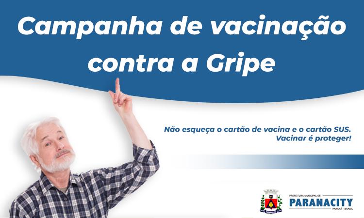 Campanha de vacinação contra a gripe.