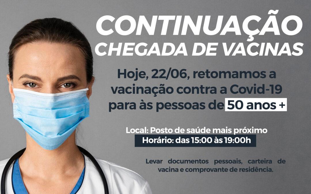 Continuação chegada de Vacinas