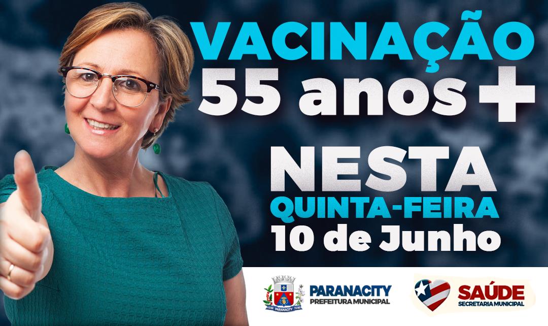 Vacinação de pessoas com 55 anos ou mais começa nesta quinta-feira, 10 de junho – Contra a COVID-19